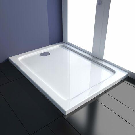 Plato de ducha ABS blanco 80x100 cm