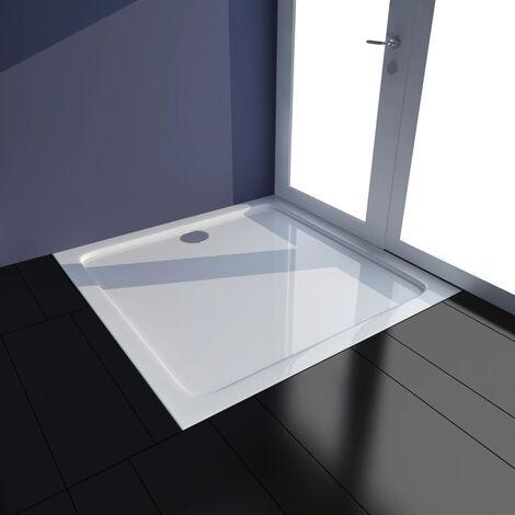 Plato de ducha ABS blanco 80x80 cm