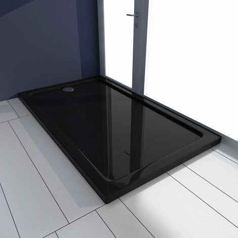 Plato de ducha ABS negro 70x120 cm