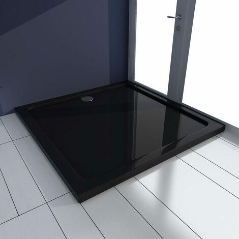 Plato de ducha ABS negro 90x90 cm