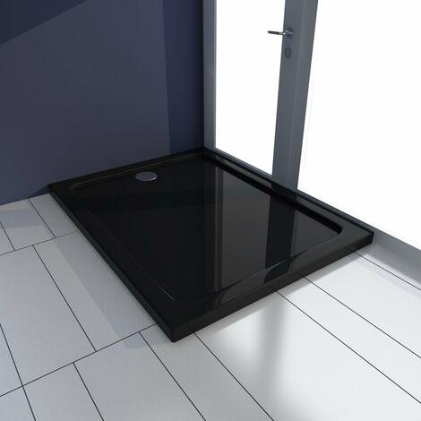 Plato de ducha ABS negroo 70x90 cm