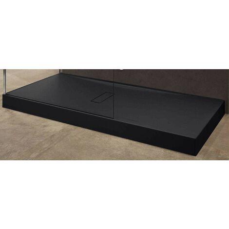 Plato de ducha acrílico 12 cm negro mate Novellini Custom