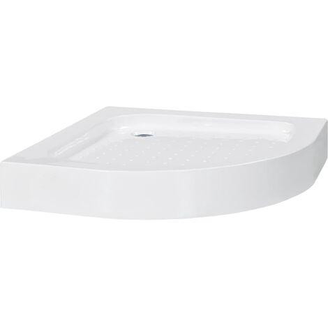 Plato de ducha acrílico blanco 70x70x13,5 cm