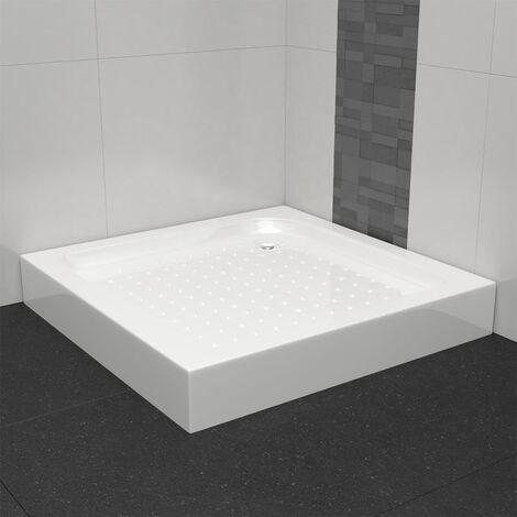 Plato de ducha acrílico blanco 80x80x13,5 cm