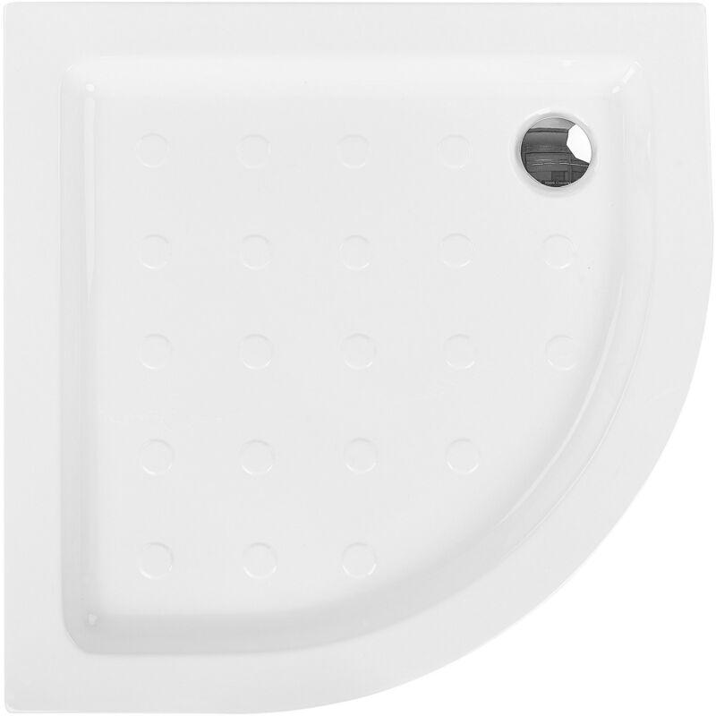 Plato de ducha blanco 90x90x7 cm SIUNA
