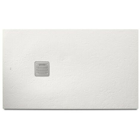 Plato de ducha blanco TERRAN - ROCA - Medidas: 1000X700 mm.