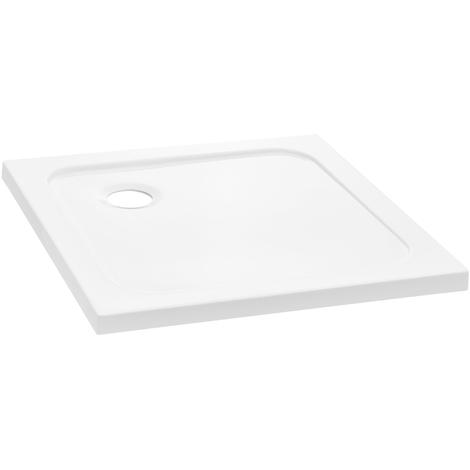 Plato de ducha - cuadrada - 80x80x4cm (blanco puro)