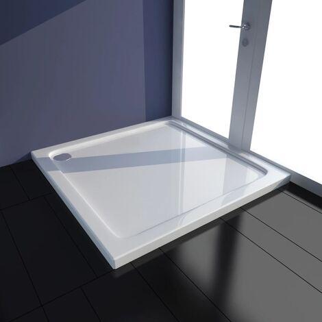 Plato de ducha cuadrado de ABS blanco 80x80 cm - Blanco