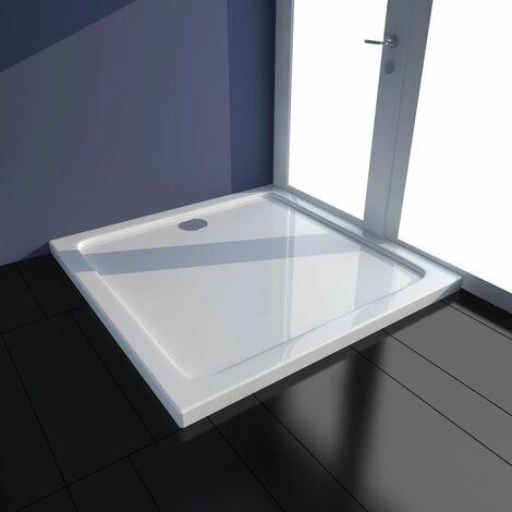 Plato de ducha cuadrado de ABS, color blanco, 80 x 80 cm