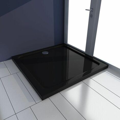 Plato de ducha cuadrado de ABS negro 80x80 cm(no se puede enviar a Baleares)