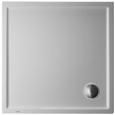 Plato de ducha cuadrado Duravit Starck Slimline, 100x100 cm, blanco - 720116000000000