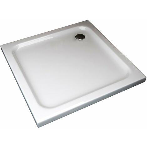 Plato de ducha cuadrado rebajado de abs con valvula incluida H.5 cm - 80 x 80 cm