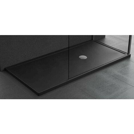 Plato de ducha de 4,5 cm color negro mate acrílico Novellini Olympic plus