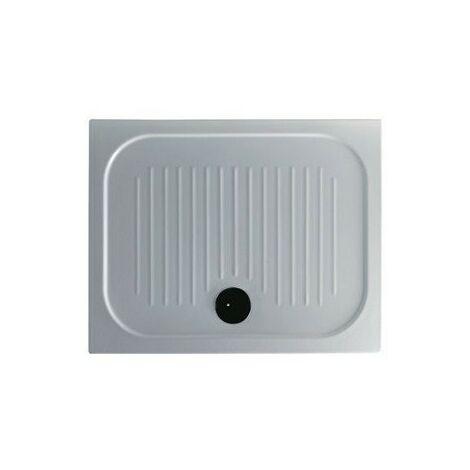 Plato de ducha de cerámica antideslizante 90x72x6 cm Galassia FLAT | Blanco