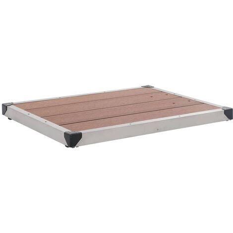 Plato de ducha de jardín WPC acero inoxidable marrón 80x62 cm
