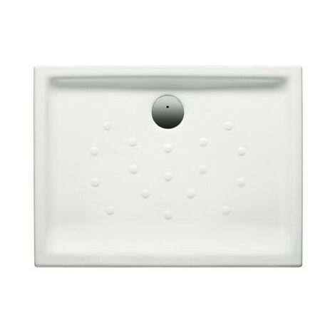 Plato de ducha de porcelana con fondo antideslizante - Serie Malta , Color Blanco - Roca