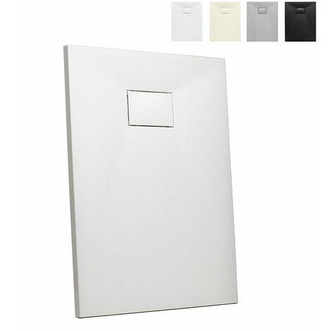Plato de ducha de resina a ras de suelo rectangular 100x80 Stone
