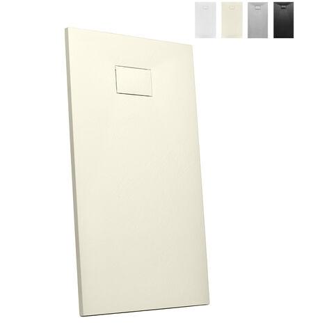 Plato de ducha de resina a ras de suelo rectangular 140x80 Stone