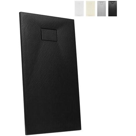 Plato de ducha de resina a ras del suelo rectangular 140x70 diseño moderno Stone