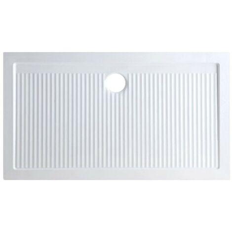 Plato de ducha en cerámica 90x70 cm serie Ariston | Blanco
