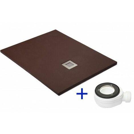 Plato de ducha extraplano Chocolate Ral 8017 100X200