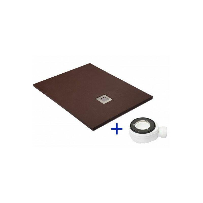 Plato de ducha extraplano Chocolate Ral 8017 80X140