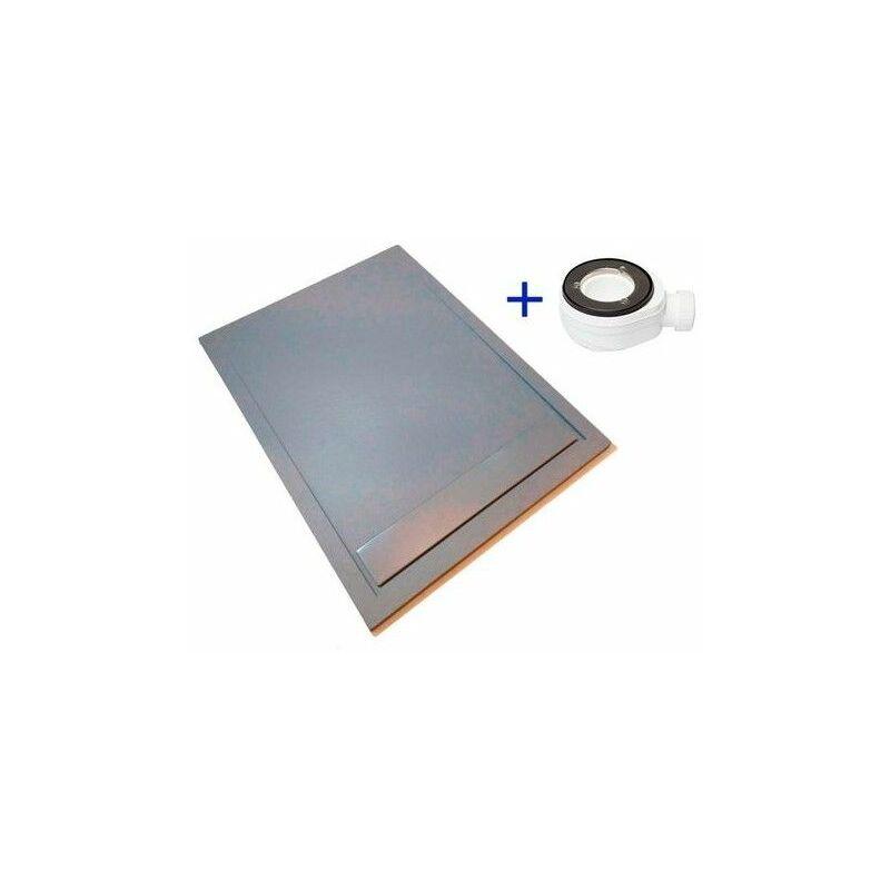 Plato de ducha extraplano PREMIUM AMBIENTE Gris Cemento Ral 7037 80X160 - PDD