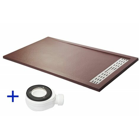 Plato de ducha extraplano PREMIUM Chocolate Ral 8017