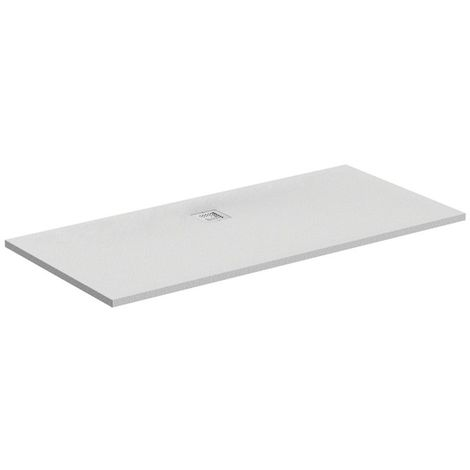 Plato de ducha ideal Standard Ultra Flat S rectangular 1800x900mm, centrado en el drenaje, K8306, color: Carrara blanco - K8306FR