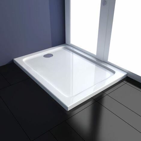 Plato de ducha rectangular ABS 70x90 cm - Blanco