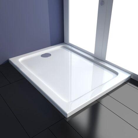 Plato de ducha rectangular ABS 80x100 cm - Blanco