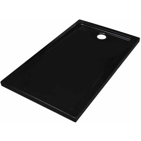 Plato de ducha rectangular ABS negro 70x120 cm