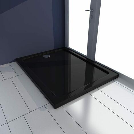 Plato de ducha rectangular ABS negro 70x90 cm