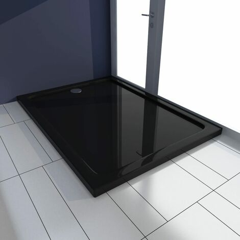 Plato de ducha rectangular ABS negro 80x110 cm