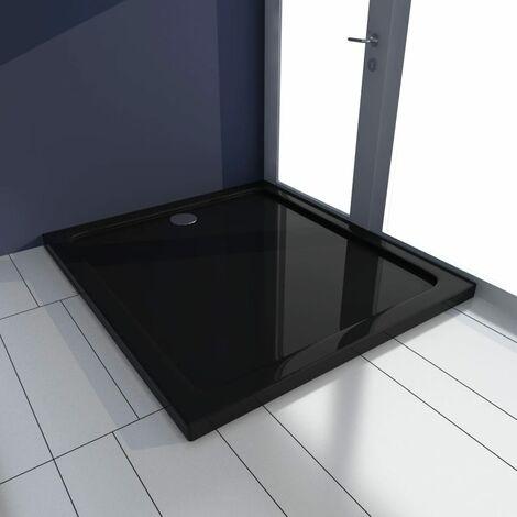 Plato de ducha rectangular ABS negro 80x90 cm - Negro