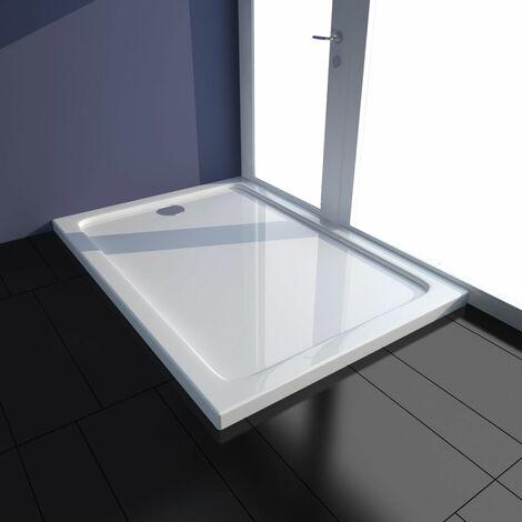 Plato de ducha rectangular de ABS blanco 70x100 cm