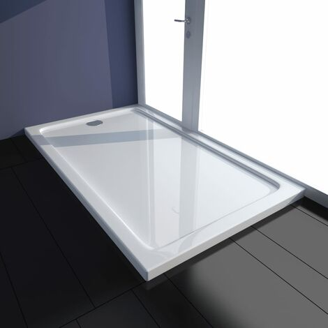 Plato de ducha rectangular de ABS blanco 70x120 cm