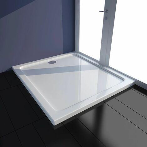 Plato de ducha rectangular de ABS, color blanco, 80 x 90 cm