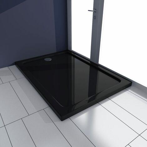 Plato de ducha rectangular de ABS, color negro, 70 x 100 cm