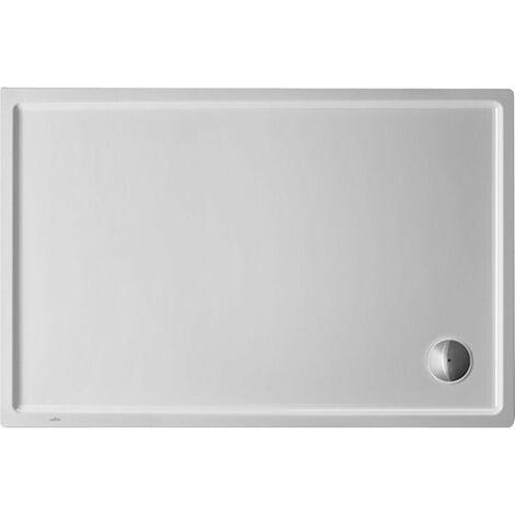 Plato de ducha rectangular Duravit Starck Slimline, 130x80 cm, blanco - 720235000000000
