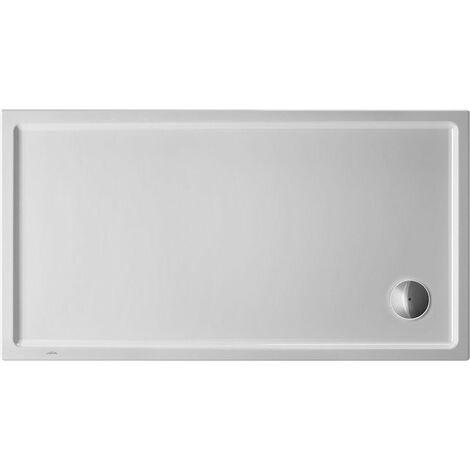 Plato de ducha rectangular Duravit Starck Slimline, 140x80 cm, blanco - 720236000000000