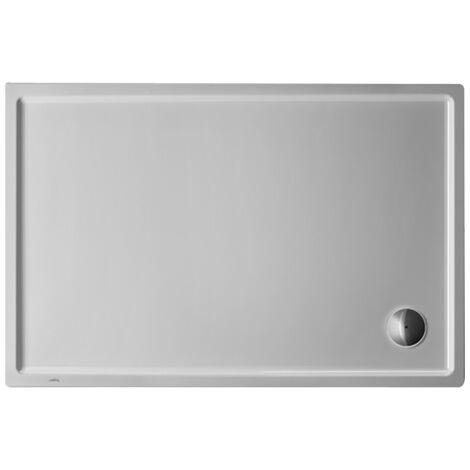 Plato de ducha rectangular Duravit Starck Slimline, 120x80 cm, blanco - 720121000000000