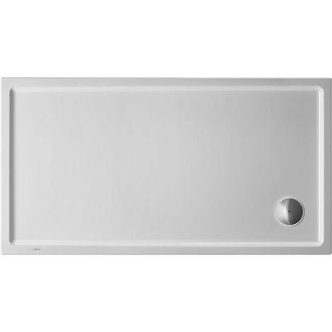 Plato de ducha rectangular Duravit Starck Slimline, 150x80 cm, blanco - 720237000000000