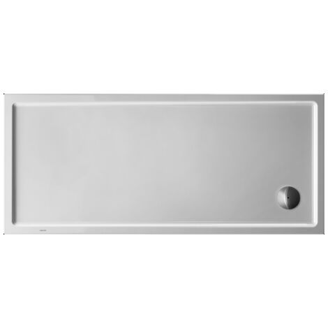 Plato de ducha rectangular Duravit Starck Slimline, 160x70 cm, blanco - 720129000000000