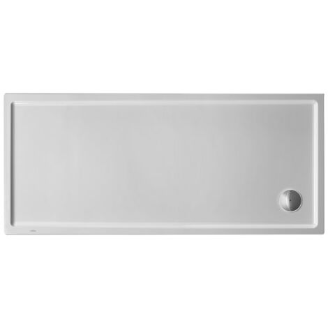Plato de ducha rectangular Duravit Starck Slimline, 160x80 cm, blanco - 720238000000000