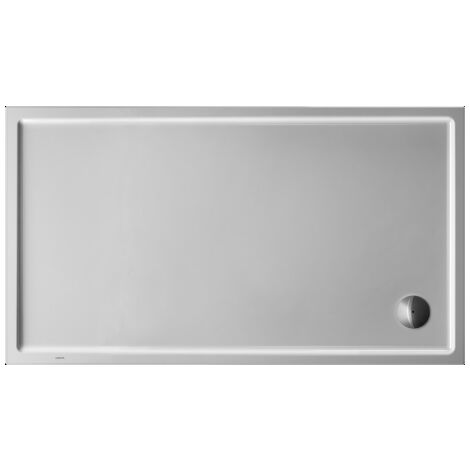 Plato de ducha rectangular Duravit Starck Slimline, 160x90 cm, blanco - 720131000000000