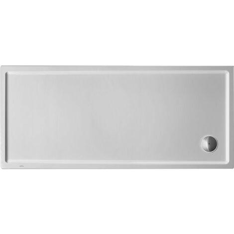 Plato de ducha rectangular Duravit Starck Slimline, 170x80 cm, blanco - 720239000000000