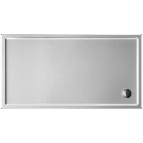 Plato de ducha rectangular Duravit Starck Slimline, 170x90 cm, blanco - 720133000000000