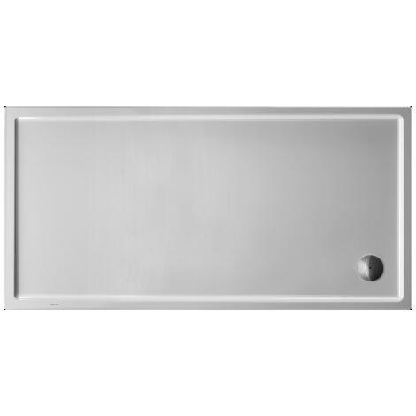 Plato de ducha rectangular Duravit Starck Slimline, 180x90 cm, blanco - 720134000000000