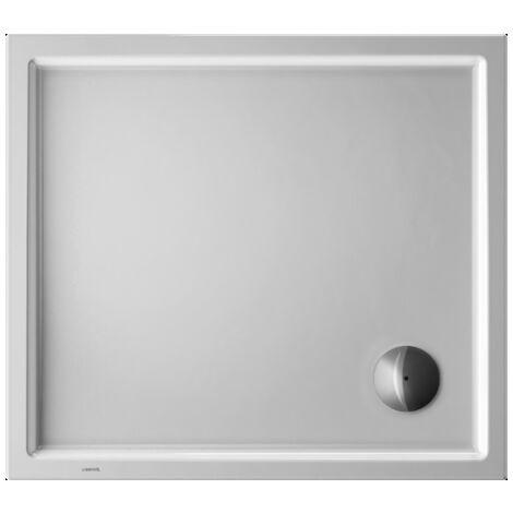 Plato de ducha rectangular Duravit Starck Slimline, 90x80 cm, blanco - 720118000000000